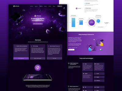 Softnauts Website company homepage web design branding page landing user experience user inteface ui ux website design web
