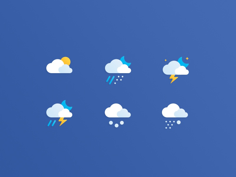Free Weather Icons free icons weather icons moon snow rain clouds psd ai freebies free weather icons