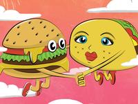 Cheeseburger Taco Love