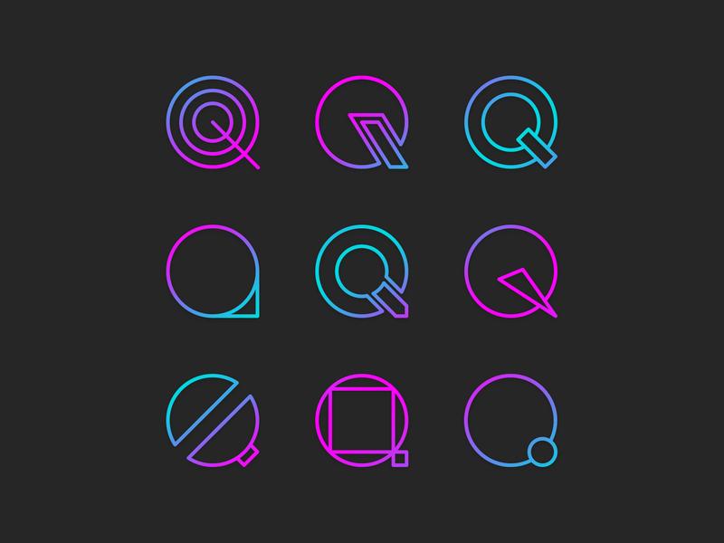 Q - Exploration symbol logo logotype logodesign logo design type type art letters lettermark logo mark icon iconography gradient gradient color shapes geometry simple logo simple design lettermarkexploration