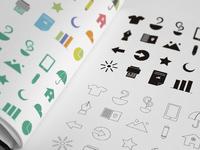 20 Flat Random Icons Pack