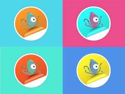 Octopus Sticker octopus illustration stickers character color pop art inspiration