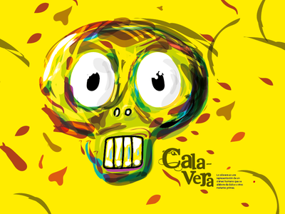 Calavera calavera illustration ilustracion editorial design character crane bones head definition