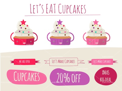 Lets Eat Cupcakes eat cupcakes free vectors free cook kids cooking kitchen