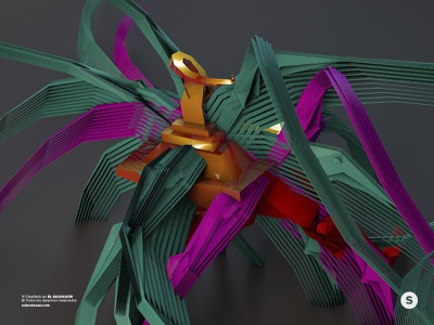 Geometric Colorful Abstract Swan concept art concept modeling abstract 3d swan direction art art direction