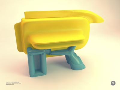 Letter R – 3D WIP