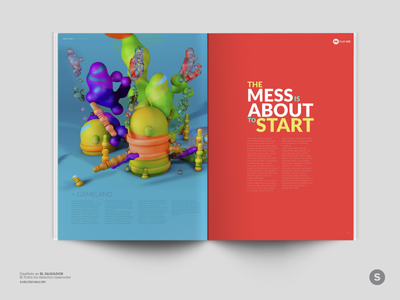 Playkid - 2Page Magazine Layout