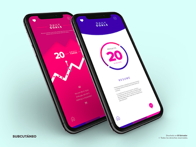 Daily App Progress Inner Screens iPhone X