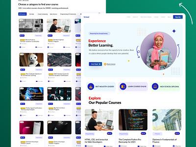 Raqibnur - OEducational Web Design lms educational dashboard e learing webdesign