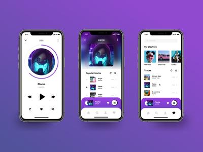 Music App Concept ios app design mobile design awen mobile app app design ux ui music player artist page app