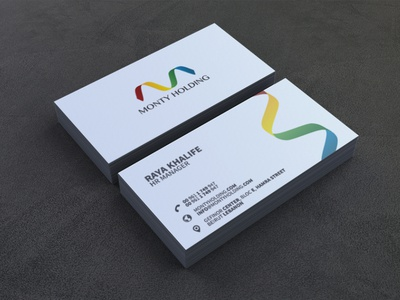 Monty Holding Bus. Card colorful logo logo graphic design design corporate identity branding business card