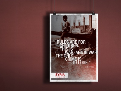 Poster Design - syria: the will of life design poster art graphic design poster design