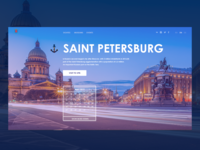 Home page website Saint Petersburg Concept