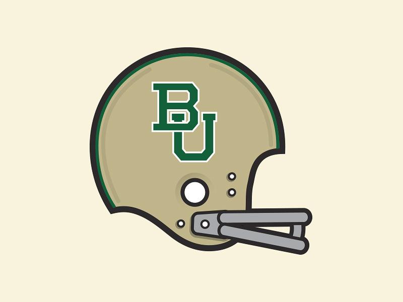Sic 'em Bears! baylor helmet football waco ncaa logo sports vector college team bears