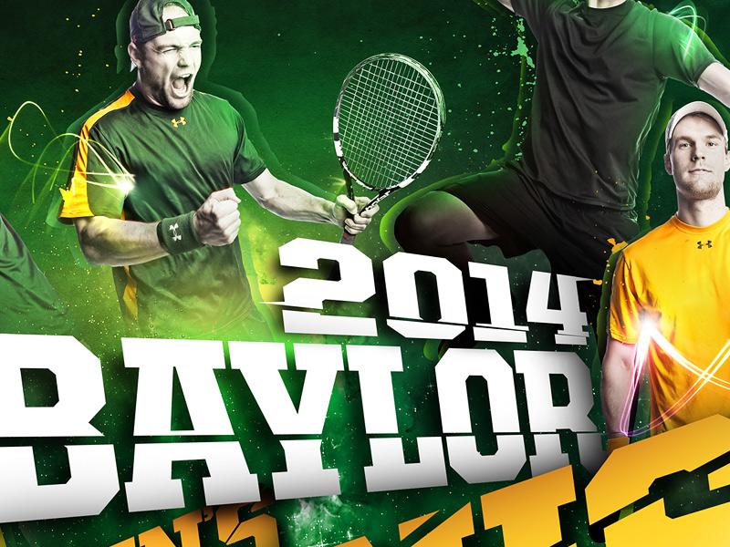 2014 Baylor Men's Tennis baylor tennis waco ncaa logo sports college team bears university