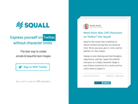 Squall Landing Page