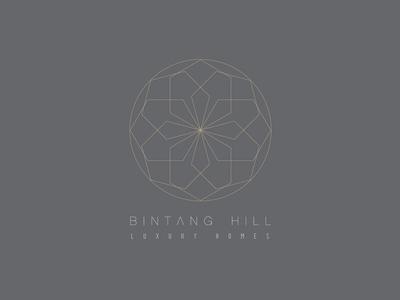 Bintang Hill Logo logo identity symbol geometry minimal clean simple lines logotype kuala lumpur luxury brand