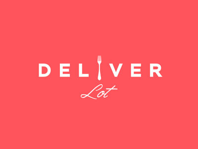 Deliver Lot logo identity mark minimal clean simple logotype typography kuala lumpur food brand
