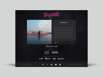 Dangerdisko website audio disco music album album music interface web design uiux ux ui web website