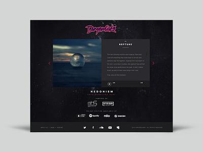 Dangerdisko  audio disco music album album music sound web design uiux ux ui web website