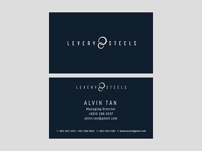 Levery Steels Business Card malaysia card kuala lumpur stationary business card logotype branding logo brand identity