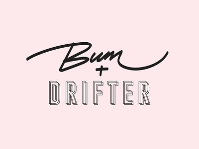 Bum + Drifter Logo typography digital website malaysia kuala lumpur freelance designer logo design design branding identity brand logo