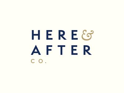 Here & After Logo typography digital afdzal ahmad malaysia kuala lumpur freelance designer logo design design branding identity brand logo