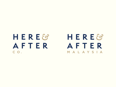 Here & After brand digital afdzal ahmad logo designer kuala lumpur malaysia logo design logo branding