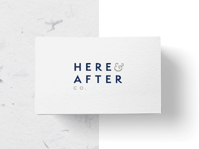 Here And After  business card typography digital malaysia design studio freelance designer logo design design branding identity brand logo