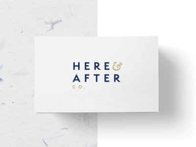 Here And After  business card typography digital malaysia design studio freelance designer logo design design branding identity brand logo