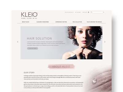 Kleio Website malaysian designer interface uiux design kuala lumpur web web design website