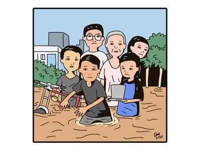 Tiktok for resolving floods