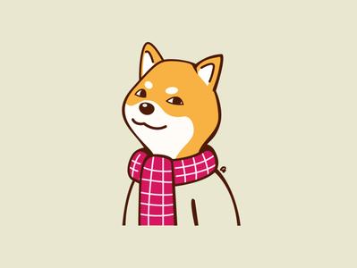 scarfed shiba