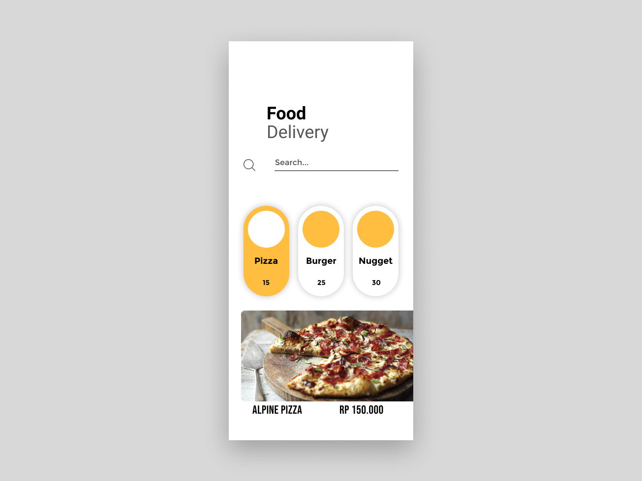 Fast food delivery app design ux ui