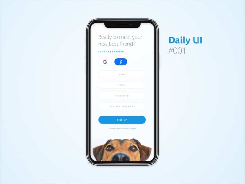 Daily UI #001 : Sign Up