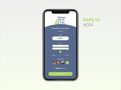 DailyUI 004 design app mobile ui mobile app uidesign ui ux rental app mobile rent calculator daily ui 004 dailyui 004 dailyui