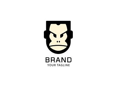 Head Guard Gorila Logo vector illustration design branding logo