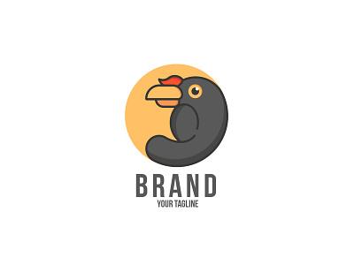 Enggang Bird animation vector illustration design branding logo