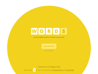 Words splash screen full