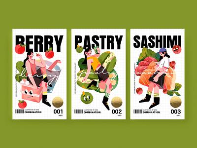 Food illustration-01 branding typography design illustration