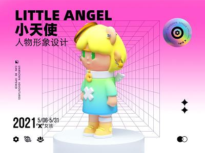 X GIRL IP角色设计(五) graphic design 3d branding typography illustration design