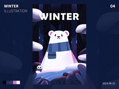 winter design illustration