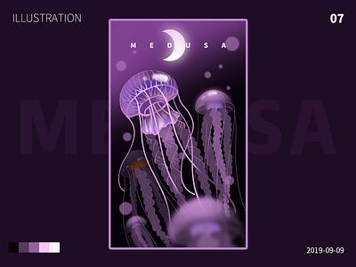 medusa ui web design illustration