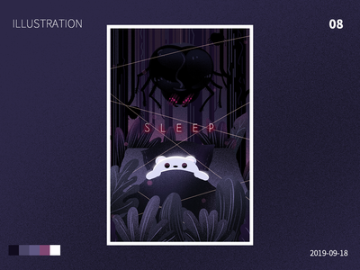 sleep design illustration