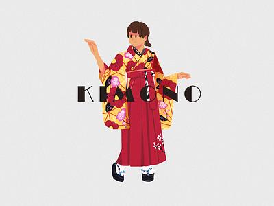 KIMONO-01 web ui illustration design