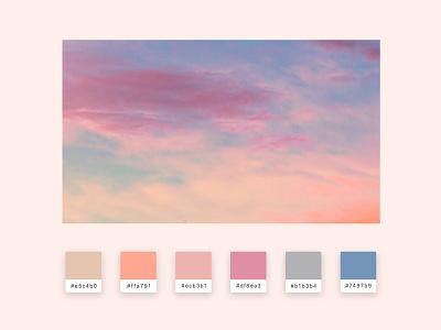 Daily UI  #060 Color Picker web design ui design pink sunset sky figma sketch photoshop image picture picker color color picker 060 daily ui 060 daily ui dailyui