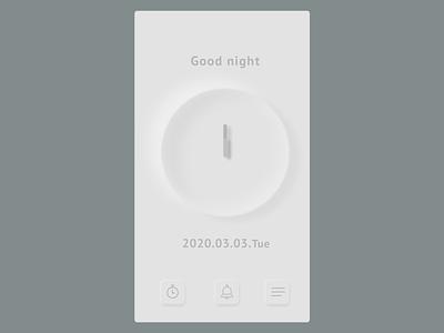 Clock figma web design gray contrast good night ui design uidesign clock app image clock