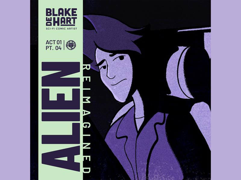 ALIEN COMIC ACT 01 / PT 04 / COVER ART cartoon character alien webcomic sci-fi xenomorph nostromo comic book comic artist comic art