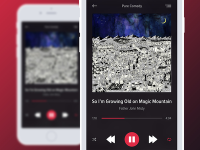 DailyUI - Exp. 009 - Music Player mobile ux ui ios music player dailyui app 009
