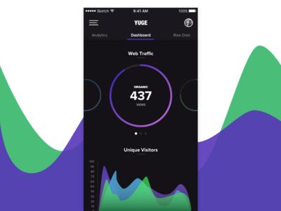 DailyUI - Exp. 018 - Analytics Application graph chart dashboard analytics ux ui mobile ios dailyui app 018